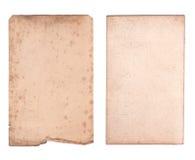Vieille feuille de papier Image libre de droits