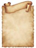 Vieille feuille de papier avec la bannière bouclée Vieux papier âgé par cru Photos libres de droits