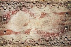 Vieille feuille rouge avec le fond de couches Image libre de droits