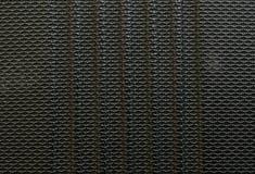 Vieille fibre noire de plan rapproché au fond de texture de bagage Photos stock