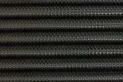Vieille fibre noire de plan rapproché au fond de texture de bagage Photographie stock libre de droits