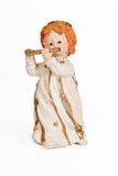 Cannelure jouant la figurine d'ange Images stock
