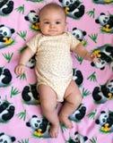 Vieille fille de cinq mois Images stock