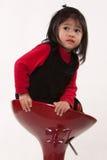 Vieille fille de deux ans adorable mignonne d'enfant en bas âge Images libres de droits