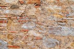 Vieille fin beige de texture de fond de mur en pierre  photo stock