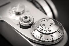 Vieille fin de bouton d'obturateur de caméra de photo  Images stock