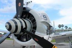 Vieille fin de vue de moteur d'avion de combat  Photos libres de droits