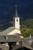 Vieille flèche d'église dans Susa no.1 Photographie stock