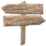 Vieille flèche en bois de signe images stock