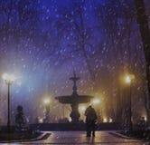 Vieille fontaine en parc de Mariinsky Image libre de droits