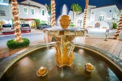Vieille fontaine La Quinta de ville Image libre de droits