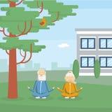 Vieille formation de couples illustration de vecteur