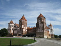 Vieille forteresse au Belarus Image stock