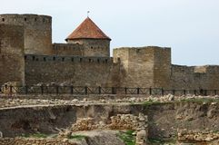 Vieille forteresse d'Akkerman en Ukraine Photos stock
