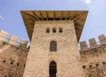 Vieille forteresse dans Soroca, rivière de Nistru, Moldau Photo stock