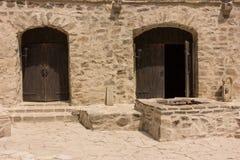 Vieille forteresse dans Soroca, rivière de Nistru, Moldau Photographie stock libre de droits