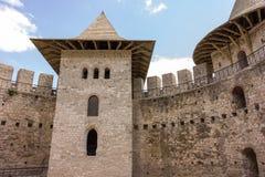 Vieille forteresse dans Soroca, rivière de Nistru, Moldau Images stock