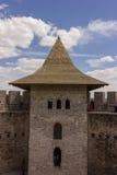 Vieille forteresse dans Soroca, rivière de Nistru, Moldau Photos stock