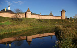 Vieille forteresse dans Suzdal Images stock