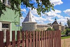 Vieille forteresse de Ladoga en Russie Images stock