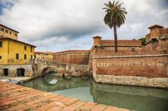 Vieille forteresse de Livourne, Italie Image libre de droits