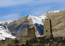 Vieille forteresse de montagne Images stock