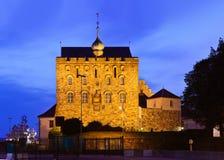 Vieille forteresse en Bergen Norway images libres de droits