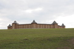 Vieille forteresse en bois russe Images stock