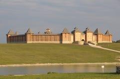Vieille forteresse en bois russe image libre de droits