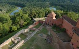 Vieille forteresse en Lettonie Images libres de droits
