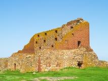 Vieille forteresse Hammershus, Bornholm, Danemark Images libres de droits