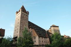 Vieille forteresse médiévale de Nuremberg Image stock
