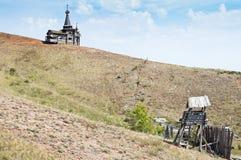 Vieille forteresse sur le flanc de coteau Photographie stock