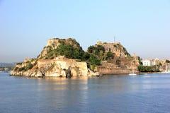 Vieille forteresse, une partie des défenses de la ville de Corfou Île de Corfou, mer ionienne, Grèce Photos libres de droits