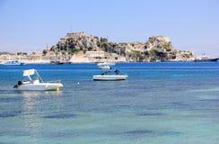 Vieille forteresse, une partie des défenses de la ville de Corfou Île de Corfou, mer ionienne, Grèce Photos stock