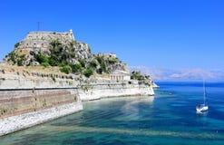 Vieille forteresse, une partie des défenses de la ville de Corfou Île de Corfou, mer ionienne, Grèce Image libre de droits