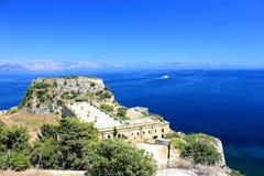 Vieille forteresse, une partie des défenses de la ville de Corfou Île de Corfou, mer ionienne, Grèce Photo stock