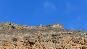 Vieille forteresse vénitienne sur l'île de Gramvousa en mer Méditerranée photographie stock libre de droits