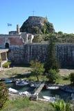 Vieille forteresse, ville de Corfou image libre de droits