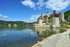 Vieille fortification médiévale Golubac Photos libres de droits