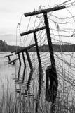 Vieille frontière (b/w) Image libre de droits