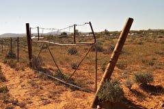 Vieille frontière de sécurité Photos stock