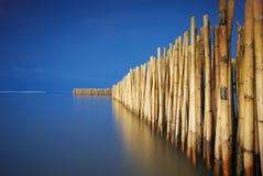 Vieille frontière de sécurité en bambou Image libre de droits