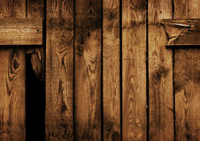 Vieille frontière de sécurité en bois brune Images libres de droits