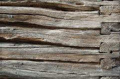 Vieille frontière de sécurité en bois fond en bois de palissade Texture de planches Images stock