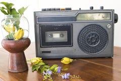 Vieille génération de bande plus ancienne de cassette sonore il y a 20 ans photos stock