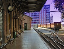 Vieille gare Photographie stock