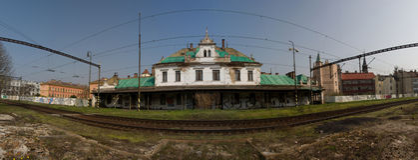 Vieille gare ferroviaire Photographie stock