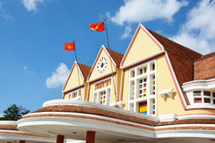 Vieille gare ferroviaire de Dalat Photo stock
