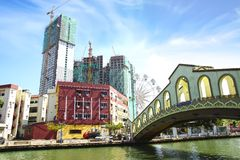 Vieille gare routière de Jambatan. Melaka Image libre de droits